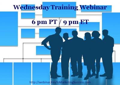 Wednesday Training Webinar