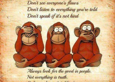 3 Monkeys Advice