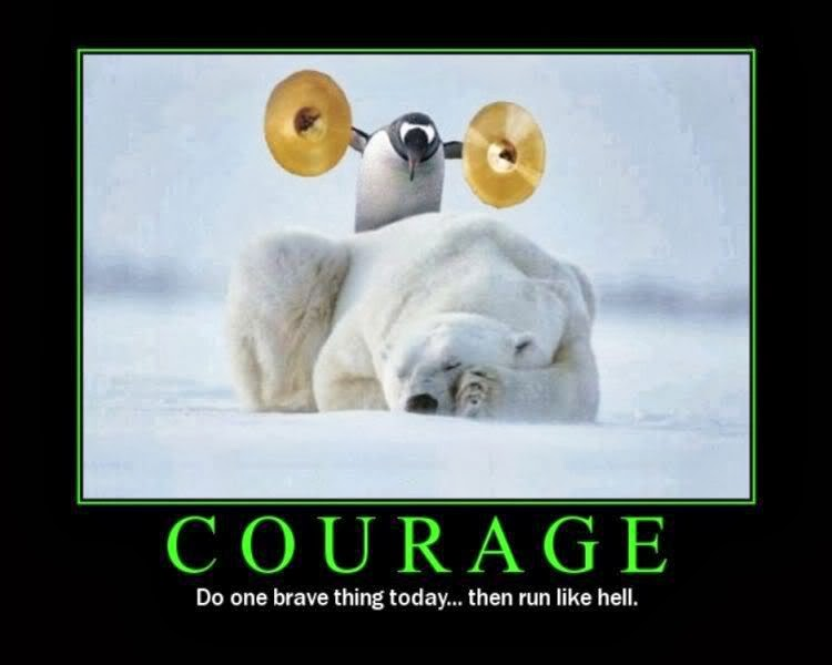 Courage: Do One Brave Thing Today ... Then Run Like Hell