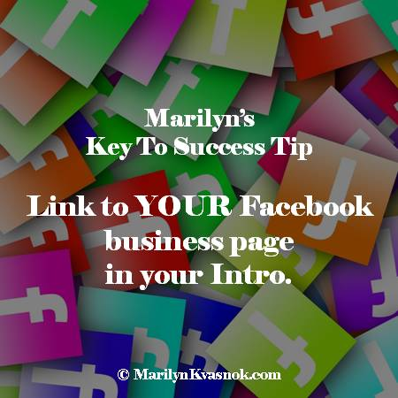 Link To YOUR Facebook Business Page