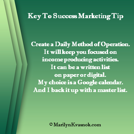 Create A Daily Method Of Operation
